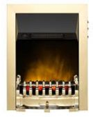 Valor Balmoral Ecolite Brass Electric Fire; V47496