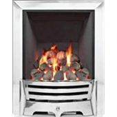Mayfair Inset Gas Fire - Chrome/Pebble Slimline