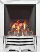 Mayfair Inset Gas Fire - Chrome/Pebble Deepline